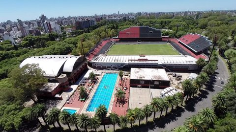 Lionel Messi`s Former Club. Aerial Video Newell´s Old Boys Stadium, Rosario, Argentina.