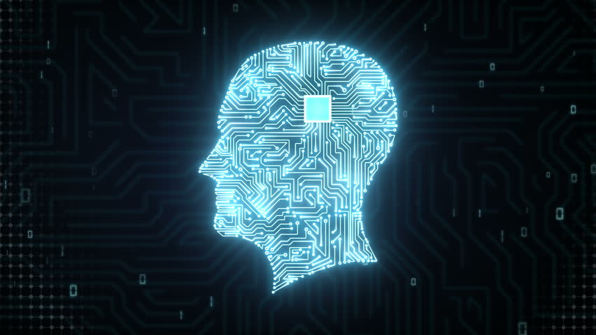 Brain head connect digital lines, expanding artificial intelligence | Shutterstock HD Video #15508966