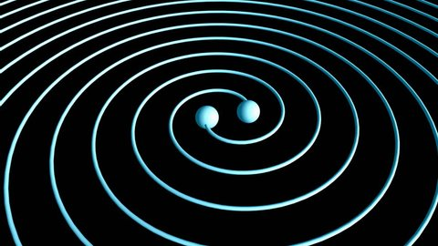 Computer generated, Artist visualise Gravitational wave.