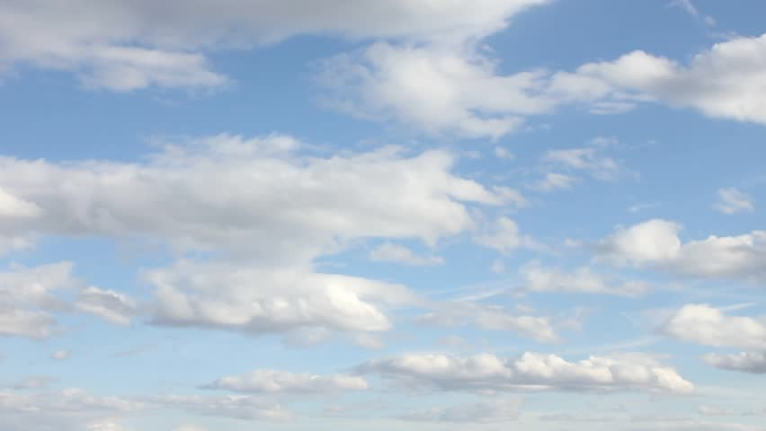 Cloud & Blue Sky, Flight over clouds, loop-able 1920x1080 FULL HD.  FHD.
