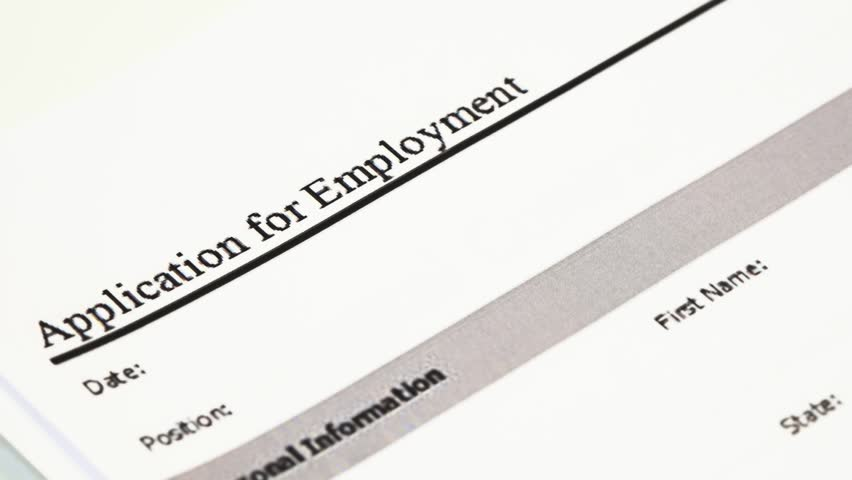Stock Video Of Application For Employment Form An 15619696