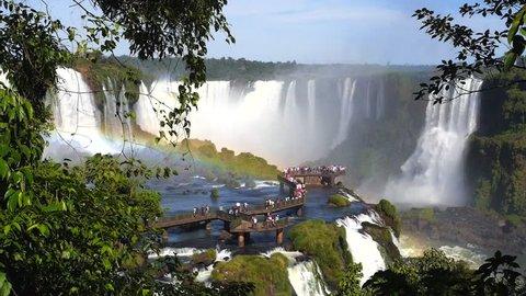 Iguazu Falls, on the border of Brazil and Argentina.