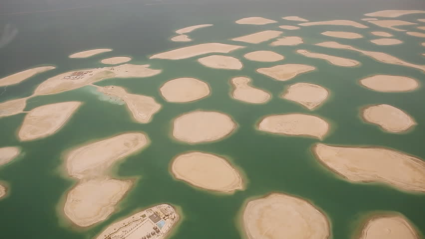 Artificial islands in the dubai the world map aerial view stock artificial islands in the dubai the world map aerial view hd stock video gumiabroncs Gallery