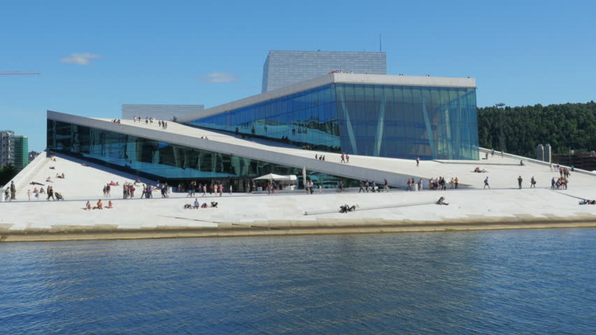 OSLO - NORWAY, AUGUST 2015: people at oslo opera house,