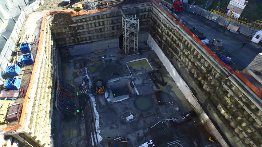 Aerial Footage Flying Over a Subway Construction | Shutterstock HD Video #15789406