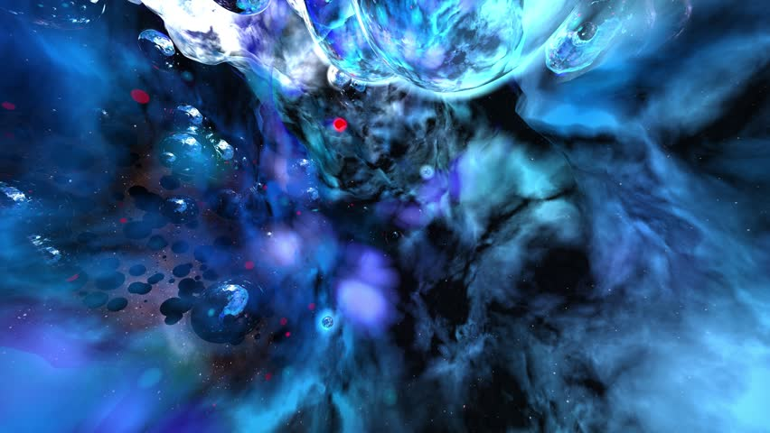 Flying through wormholes in space. Abstract background. #15821686