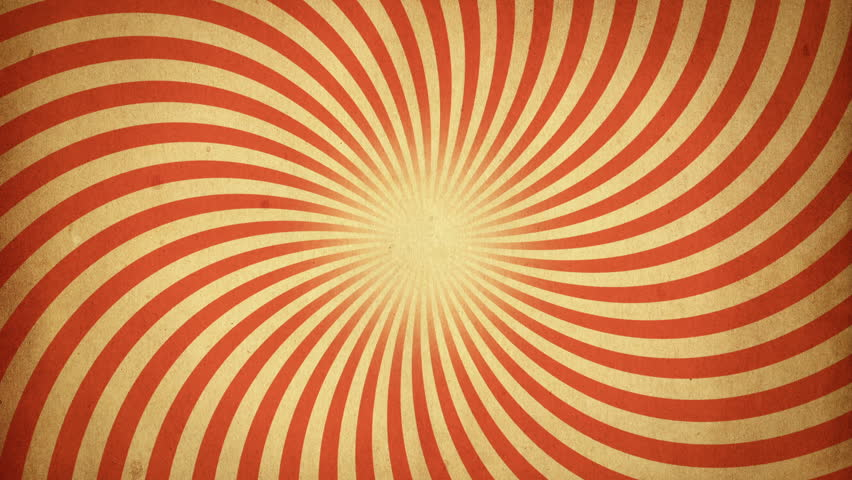 Abstract background with animation of rotation retro patterns from colorful stripes like sun beams. Retro radial background. Animation of seamless loop.