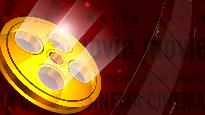 Gold movie tape 3d motion background HD720 at 29.97fps - seamless loop