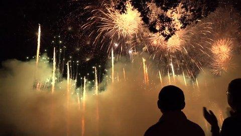 Fireworks Festival Kyoto Japan