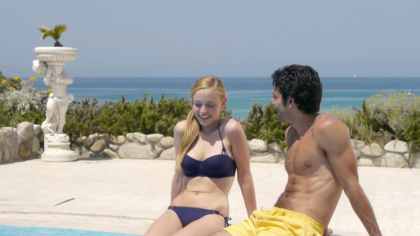 Image result for pool side couple