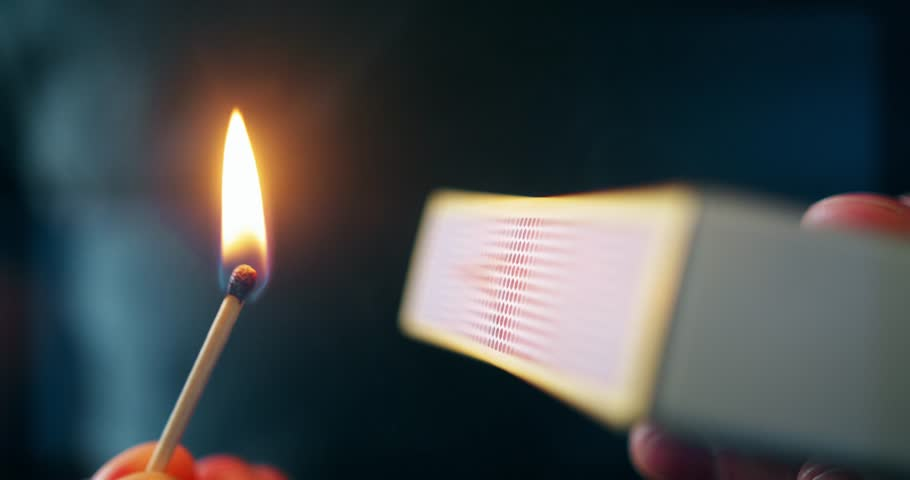 Lighting a Match Close Up 2 & Blowing Out Burning Match Stock Footage Video | Shutterstock azcodes.com