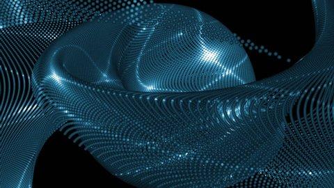 Vj Abstract Blue Bright Mosaic. Bright blue beautiful flood lights disco in dark background. Flood lights disco background. Seamless loop.