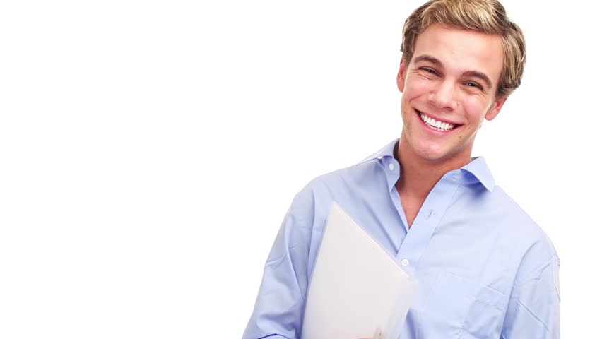 Happy Smiling Guy Looking At Camera With Satisfaction