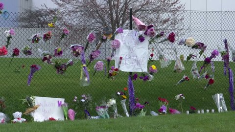 MINNEAPOLIS, MN - CIRCA APRIL 2016 - Memorial at Paisley Park recording studio on the day of the death of pop rock music legend Prince.