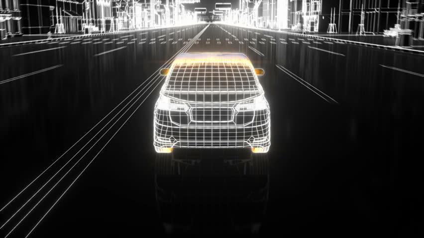 City car Wireframe View - conceptual