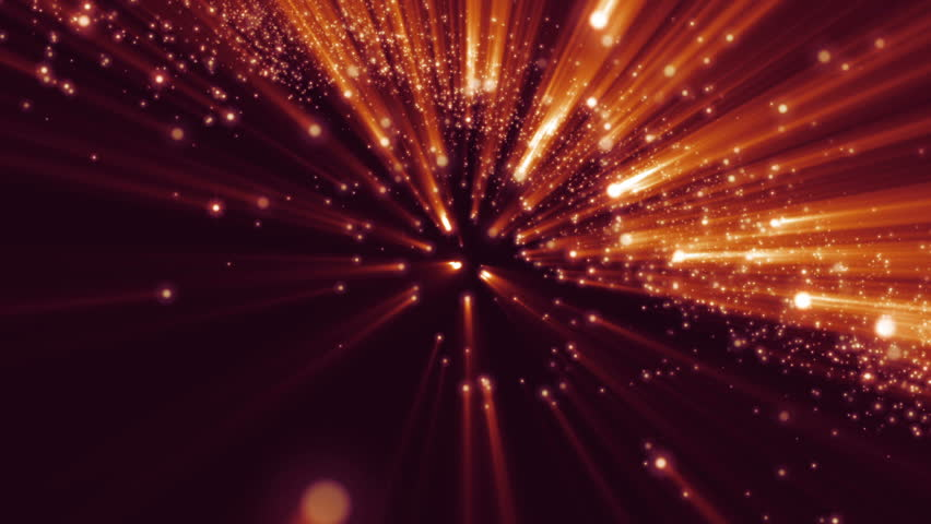 Abstract background with animation flying of flickering particles red background with rays in space abstract red animation background with lens flares and waves hd 0012 fireworks voltagebd