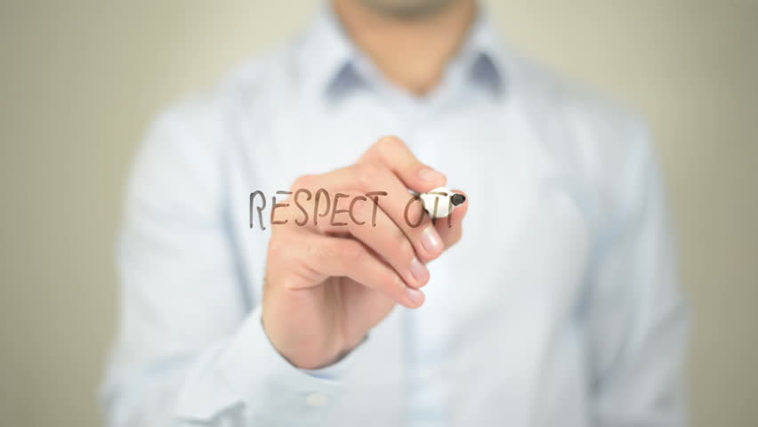 Respect Others, Man Writing on Transparent Screen | Shutterstock HD Video #16119196