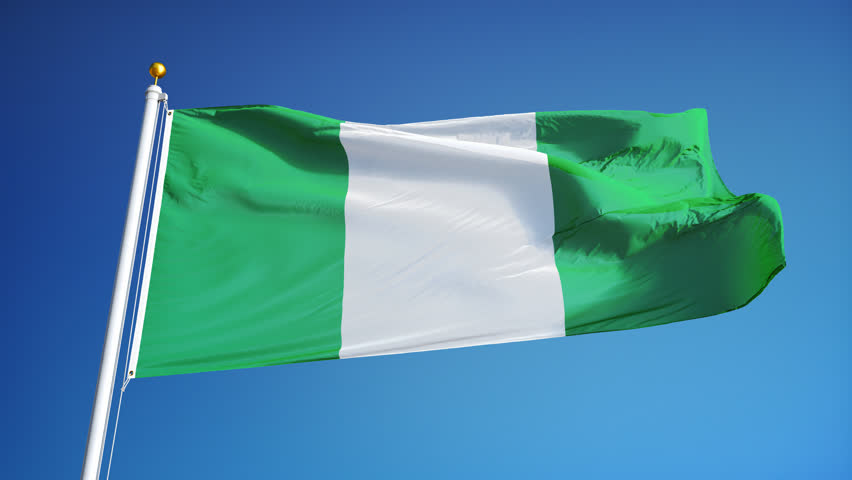 nigerian flag stock footage video | shutterstock