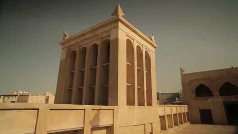 Riffa Fort, Bahrain - circa 2011 - View of the wind tower in the 19th century Riffa Fort.
