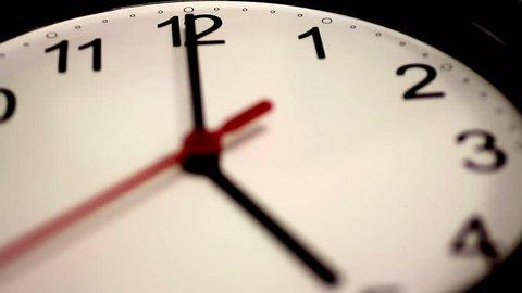 Black wall clock - Timelapse