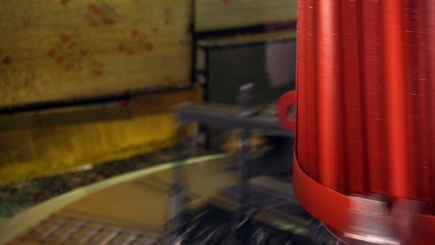 Modern Metalworking CNC machine.  | Shutterstock HD Video #16214686