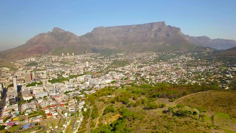 Cape Town 4K UHD aerial footage of Table Mountain and city from Signal Hill Peak. Part 2 of 2