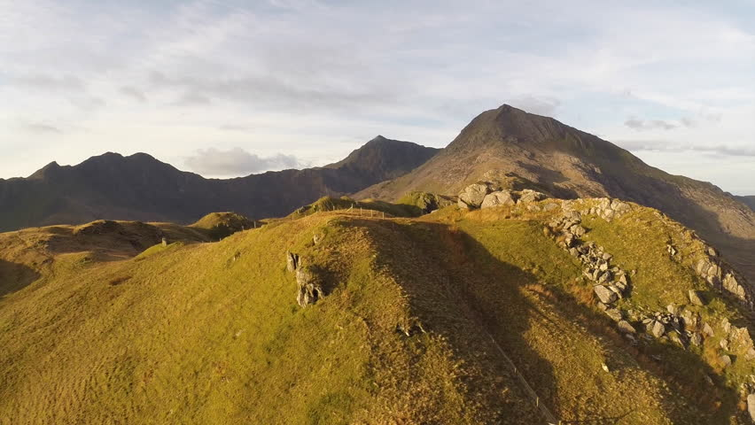 Flying towards Snowdon - Aerial View