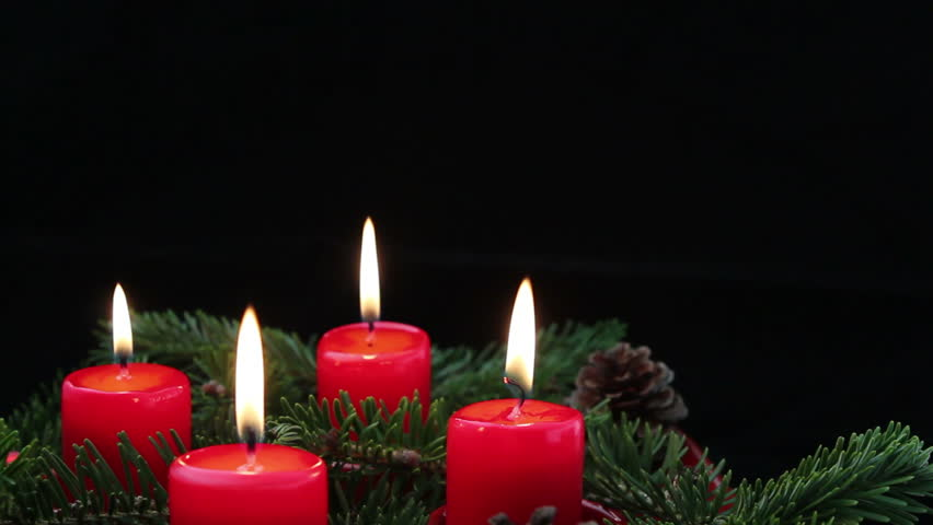 advent wreath with red candles stock footage video 100. Black Bedroom Furniture Sets. Home Design Ideas