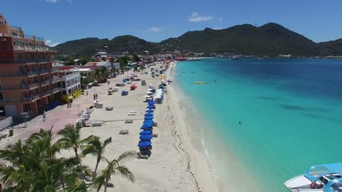 Great bay beach sxm view from above