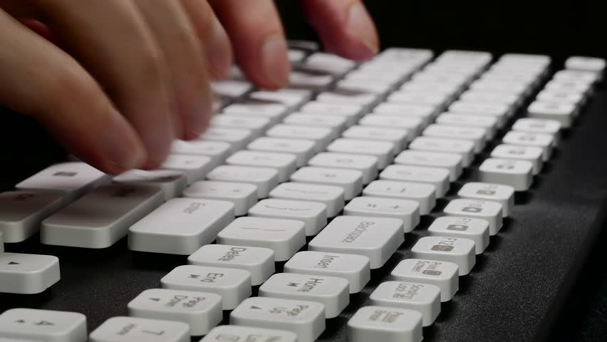 Ungraded: Hands On Keyboard Typing Stock Footage Video (100% Royalty-free)  16297006 | Shutterstock