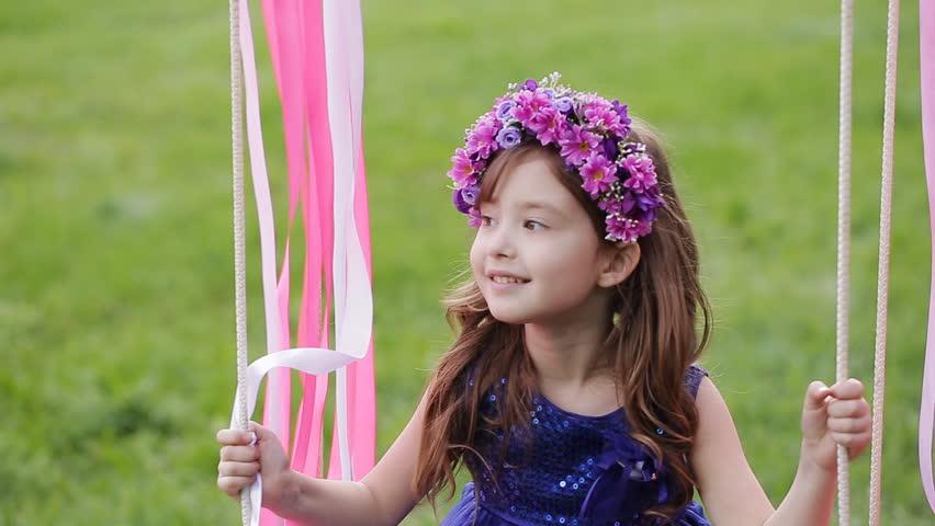 Cute little girl assured