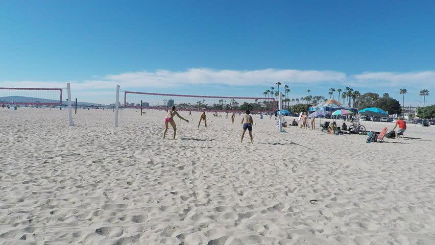 Long Beach Ca Usa March 11 2017 Shot Of Women Playing
