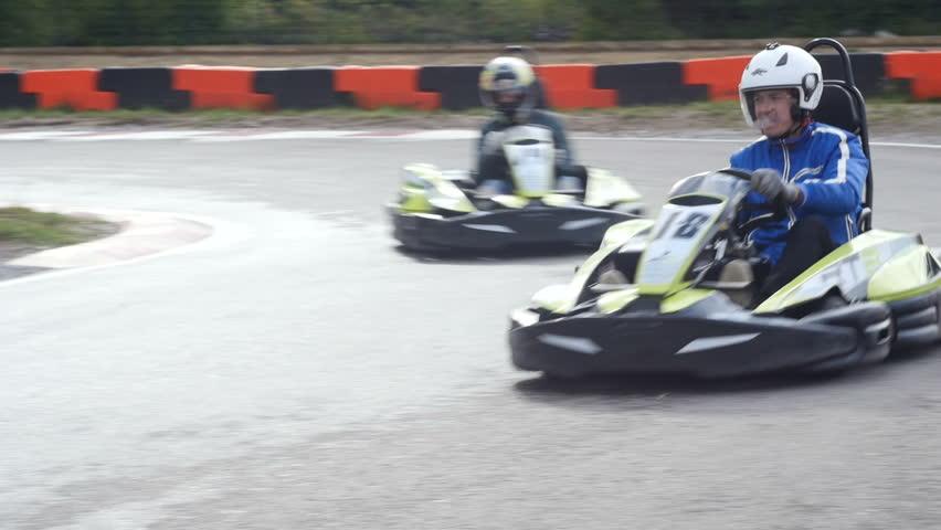Go Kart Outdoor Race Stock Footage Video (100% Royalty-free) 16321756    Shutterstock