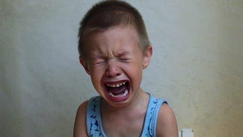 Child Boy Crying Bitterly 2