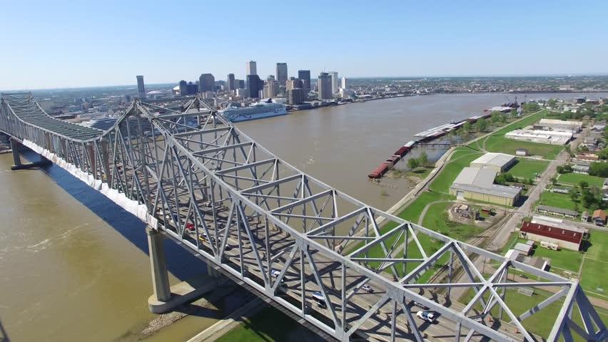 New Orleans Aerial City Sky Line