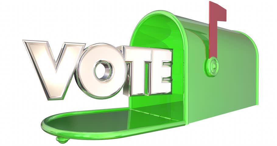 Vote Absentee Ballot Election Word Mailbox 3d Illustration