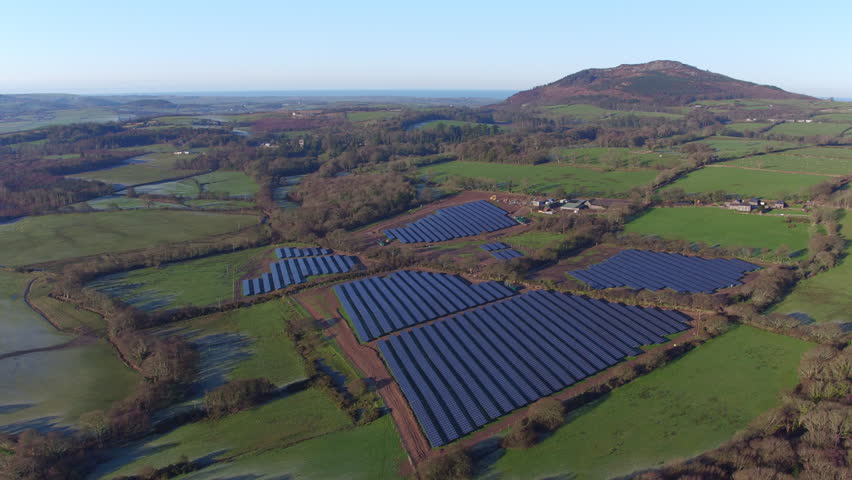 AERIAL: Solar Farm in Snowdonia