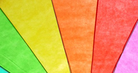 Rainbow Colored Umbrella Abstract Background