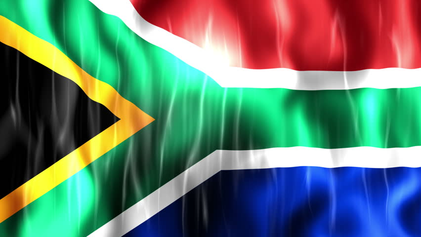 South Africa Flag, Ultra Hd, Stock Footage Video 100 -8637