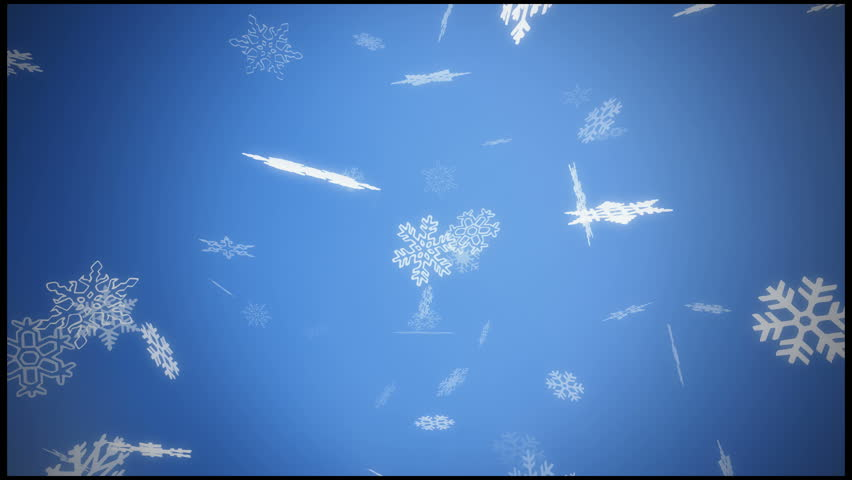 falling snow - loopable snowing background