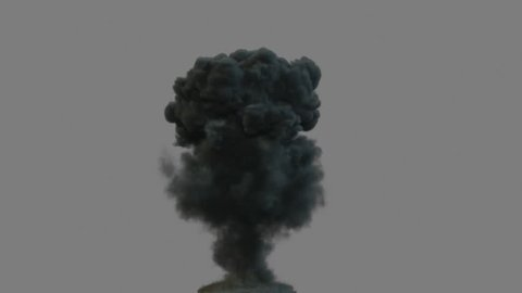 Large scale Explosion created Fume fx with Alpha matte.
