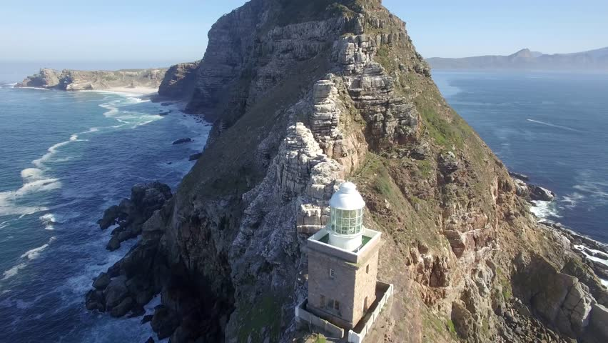 Cape Point, Cape Town Flying Back and Look Up Reveal Shot - 4k Drone Footage | Shutterstock HD Video #16672366