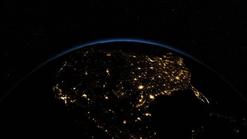 USA From Space Clip Contains Earth Usa Us Space Map Globe - Satellite map of us at night