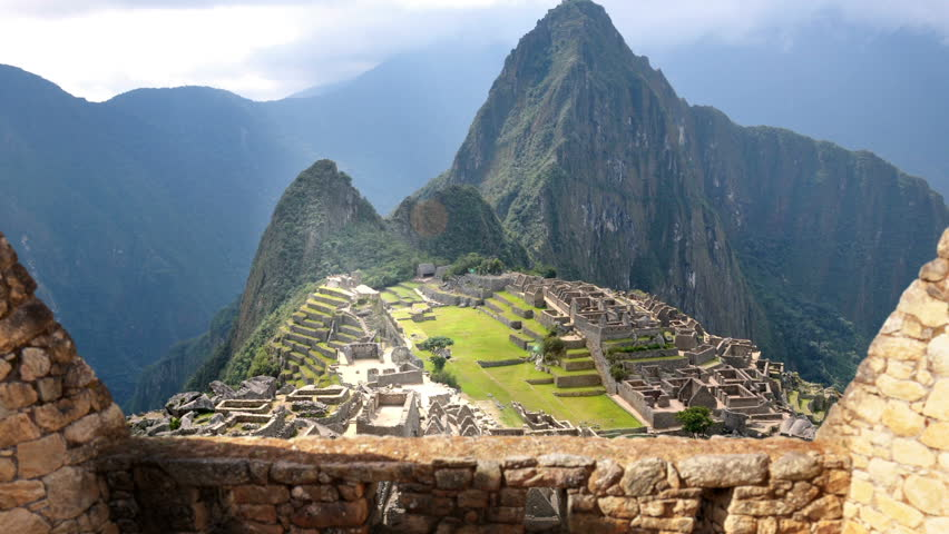 Machu Picchu - View From Behind The Wall