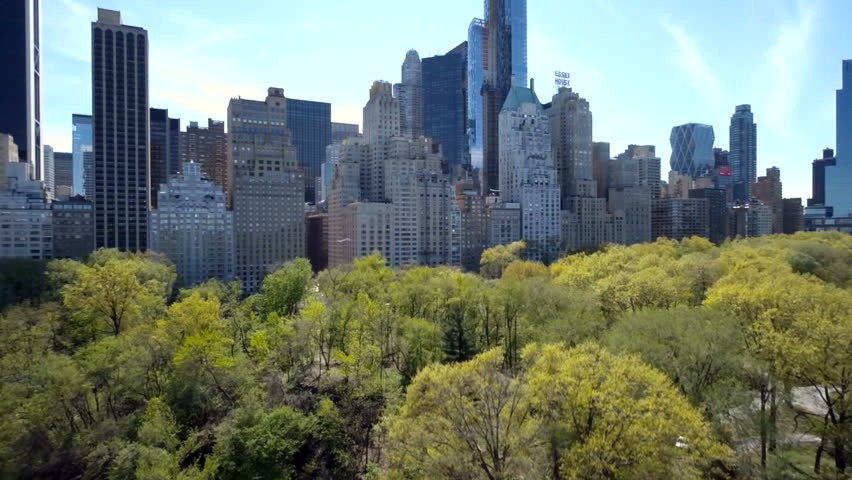 Aerial view of Central Park with Manhattan skyline in New York City | Shutterstock HD Video #16783186