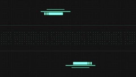 ABSTRACT DIGITAL UI & HUD GLITCH 5 / Modern Pattern Glitch 5 / An abstract digital modern pattern glitch for UI or HUD's 5