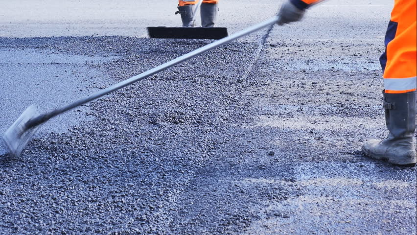 repair of roads, laying of asphalt