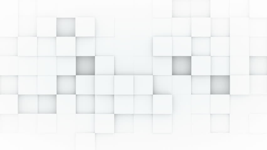 Vector Square Background Hd Vector Three Dimensional: White Boxes. 3d Render Seamless Stock Footage Video (100