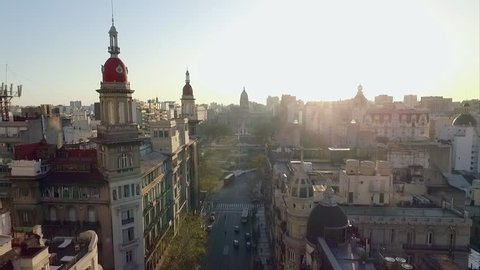 Buenos Aires, Argentina - November 21, 2015: Historic buildings in Buenos Aires, Argentina