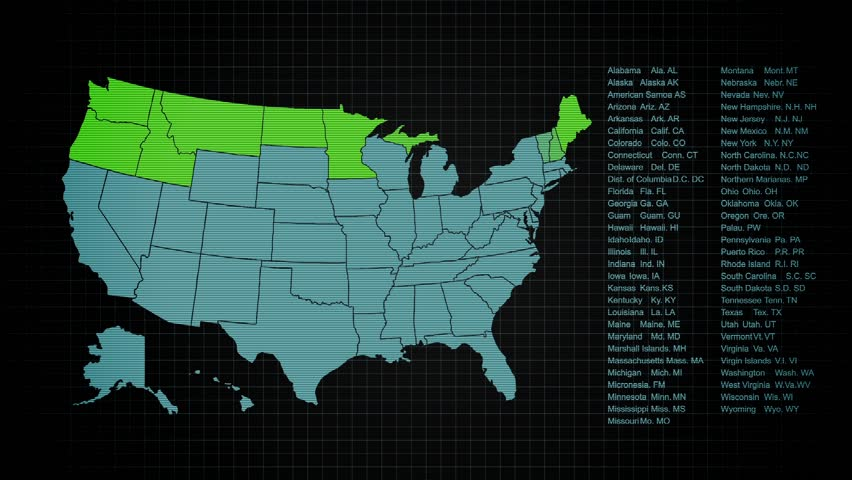 US Map with Statistics
